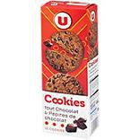 Cookies goût chocolat et pépites de chocolat U étui 200g