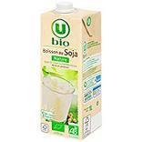 Boisson bio au jus de soja nature U BIO brique 1 litre