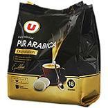 Café dégustation pur arabica U dosettes x18 125g