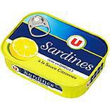 Sardines sauce citronnée U boîte 1/5 135g