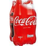 COCA-COLA standard, 4 bouteilles en plastique, 50cl