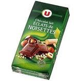 U Chocolat Lait Noisettes 200G