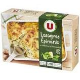 Lasagnes chèvre épinards U 500 gr