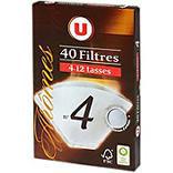 Filtres à café numéro 4 U x40 72g