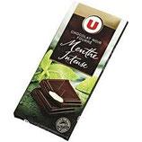 U Chocolat Noir Fourré Menthe 150 gr