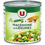 Macédoine de légumes U boîte 1/2 265g
