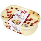 Glace rhum raisin bac U 500 gr