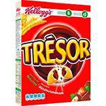 Céréales Trésor chocolat noisettes KELLOGG'S, paquet de 375gr