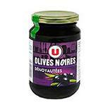 Olives noires confites dénoyautées U bocal 160g 37cL