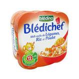Blédichef poulet riz  230 gr