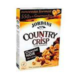 Céréales Country Crisp au chocolat noir JORDANS, 550gr