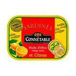Sardines au citron et à l'huile d'olive CONNETABLE, 115g