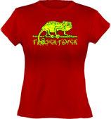 Ladies´ Classic T-Shirt, Froschteich® Chamäleon, Aufdruck vorne, Gr. XS - XXL, 100% Bio-Baumwolle