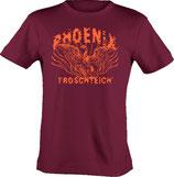 T-Shirt heavy, unisex, Froschteich® Phoenix, Aufdruck vorne, Gr. XS - 3XL, 100% Baumwolle