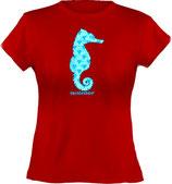 Ladies´ Classic T-Shirt, Froschteich® Seepferdchen, Aufdruck vorne, Gr. XS - XXL, 100% Bio-Baumwolle