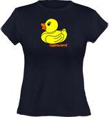 Ladies´ Classic T-Shirt, Froschteich® Quietscheente, Aufdruck vorne, Gr. XS - XXL, 100% Bio-Baumwolle