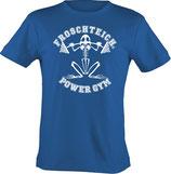 T-Shirt heavy, unisex, Froschteich® Powergym, Aufdruck vorne, Gr. XS - 3XL, 100% Baumwolle