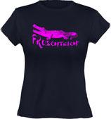 Ladies´ Classic T-Shirt, Froschteich® Alligator, Aufdruck vorne, Gr. XS - XXL, 100% Bio-Baumwolle
