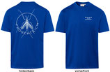 T-Shirt heavy, unisex, Froschteich® Stechmücke, Aufdruck hinten u. Logo, Brust links, Gr. XS - 3XL, 100% Baumwolle