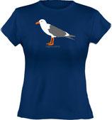 Ladies´ Classic T-Shirt, Froschteich® Möwe, Aufdruck vorne, Gr. XS - XXL, 100% Bio-Baumwolle