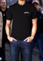 Polo Shirt Würfel Schwarz