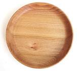 リトアニア製 木製プレート 円皿 《プレーン》 直径26cm