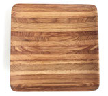 リトアニア製 木製プレート 角皿 《寄せ木》 26cm角