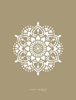 Tibet Mandala stencil
