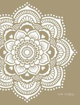 Yoga Mandala stencil