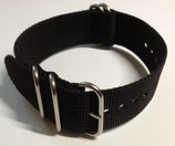 24mm Nato Textil Armband Steel Buckle