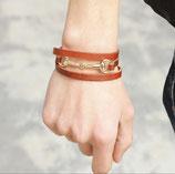 leren armband met bit in verschillende kleuren