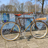 Motobecane caferacer; custom build single speed retrofiets (VERKOCHT)