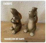 Haseneltern mit Babys