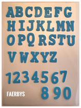 Silikon Inlay Buchstaben & Zahlen V 1