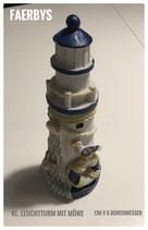 kl. Leuchtturm mit Möwe