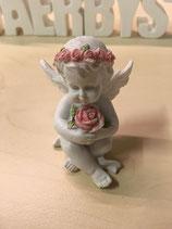 Engel Lilly mit Rosenkranz- Silikonform