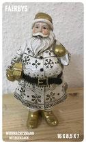 Weihnachtsmann mit Rucksack