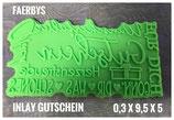 Inlay Gutschein