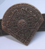Rivet d'angle Cœur de Lion vieux cuivre