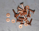 Rivets à mater en cuivre 20 mm / T40