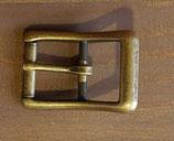 Boucle à rouleau pour sangle de 25 mm finition laiton vieilli