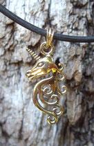 Pendentif en bronze - Licorne