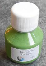 Teinture de tranche - vert jaune