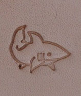 "Matoir mini ""3D"" cuir - Requin"