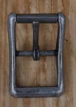 Boucle à rouleau pour sangle de 25 mm finition argent vieilli