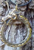 Pendentif en bronze - Jormungrandr