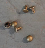 Rivets bombés 7 mm vieux laiton