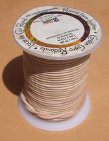Lacet rond naturel 2 mm