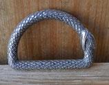 Dés de fixation serpent - anneau demi rond - 38 mm