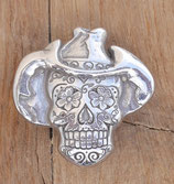 Concho pour cuir tête de mort mexicaine  - cowboy